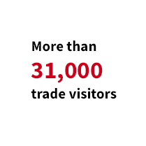 More than 31,000 trade visitors