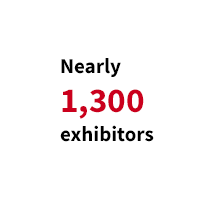 Nearly 1,300 exhibitors